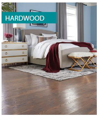 Engineered hardwood floor in bedroom