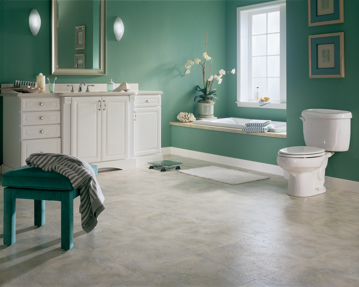 Bathroom with Armstrong Vinyl