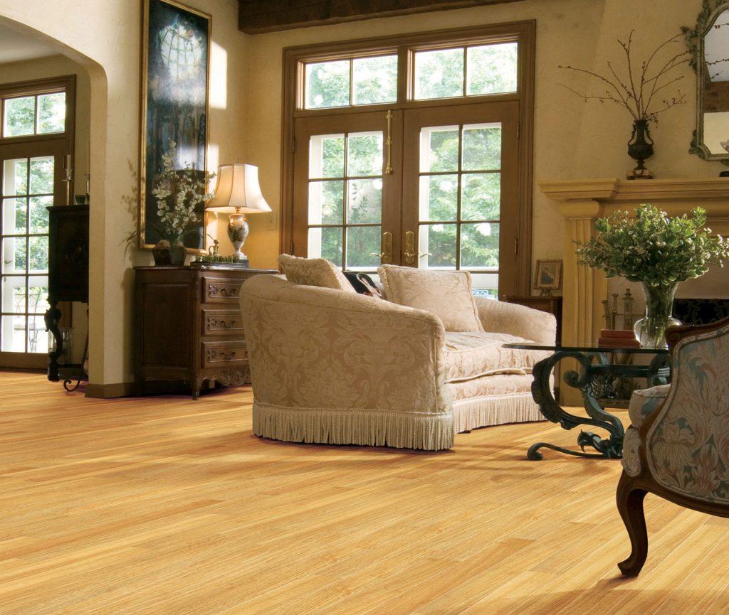 Shaw laminate living room floor