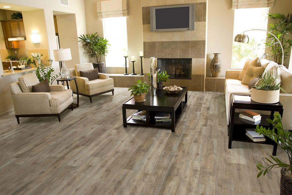 Papoua Invincible LVT Plank living room floor